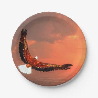 Fliegendes Eagle - 3D übertragen Pappteller