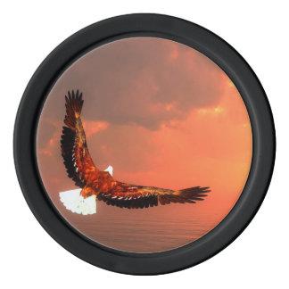 Fliegendes Eagle - 3D übertragen Poker Chip Set