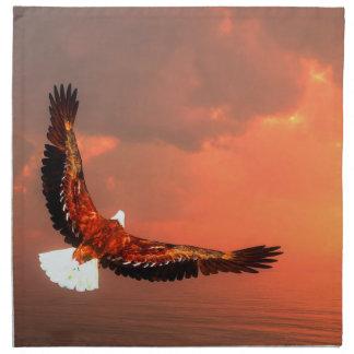 Fliegendes Eagle - 3D übertragen Serviette