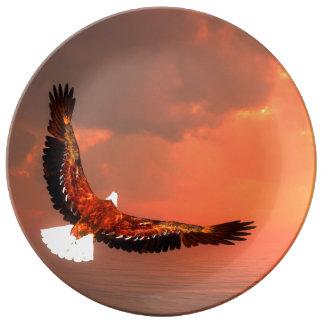 Fliegendes Eagle - 3D übertragen Teller