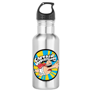 Fliegendes Held-Abzeichen Kapitän-Underpants | Trinkflasche