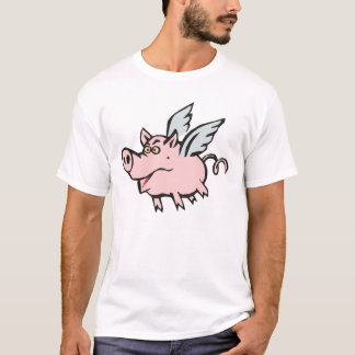 fliegendes Schwein Sau flying pig hog T-Shirt