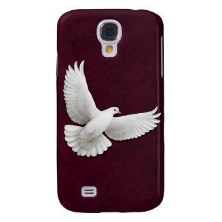 Fliegendes Weiß tauchte auf kastanienbraunem HTC Galaxy S4 Hülle