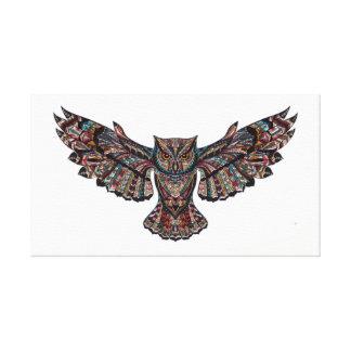 Fliegeneulen-Leinwandmalerei des befleckten Glases Leinwanddruck