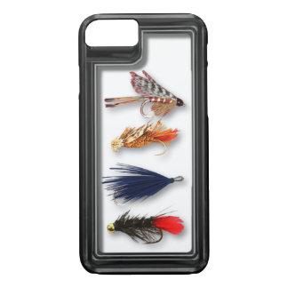 Fliegenfischenfliegen - realistischer Kasten iPhone 8/7 Hülle