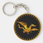 Fliegengolddrache auf Schwarzem Schlüsselband