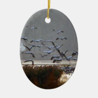 Fliegenkräne Keramik Ornament