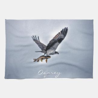 FliegenOsprey mit Foto der Hornhautfleck-Fisch-HDR Küchentuch