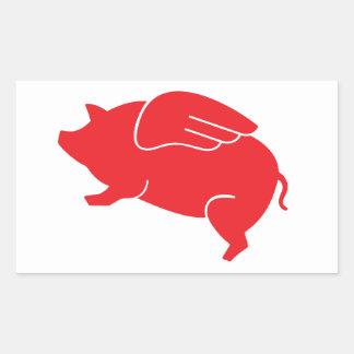 Fliegenschwein 🐷 rechteckiger aufkleber