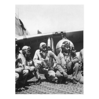 Flieger eines Mustangs P-51 gruppieren of_War Bild Postkarte
