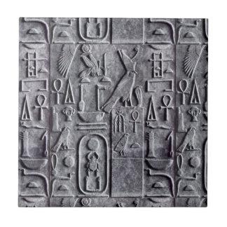 Flieseägyptische Egyptology-Hieroglyphen Symb Kleine Quadratische Fliese