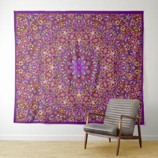 Fliesen-Art-Vintage Kaleidoskop-Wand-Tapisserie Wandteppich