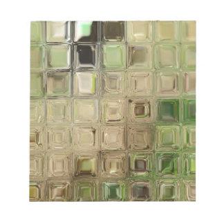 Fliesen des grünen Glases Notizblock