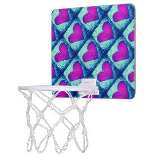 Fliesen-Herz-MiniBasketballkorb Mini Basketball Netz