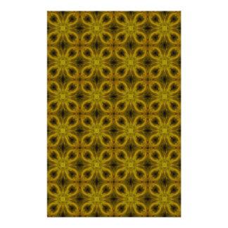 Fliesen-Muster im Gold Personalisiertes Büropapier