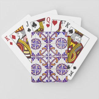 Fliesenmusternahaufnahme, Portugal Spielkarten