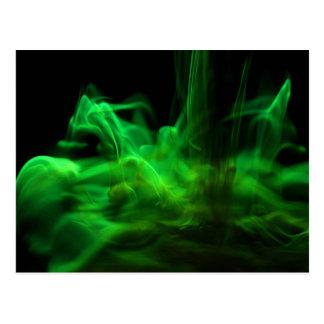 Fließen/Fluoreszin in Wasser Postkarte