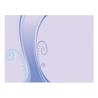 Fließen lila postkarte