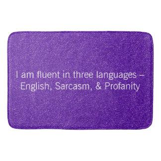 Fließend im drei Sprachneuheits-Geschenk Badematte