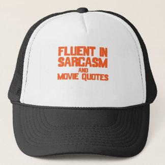 Fließend in den Sarkasmus-und Film-Zitaten Truckerkappe
