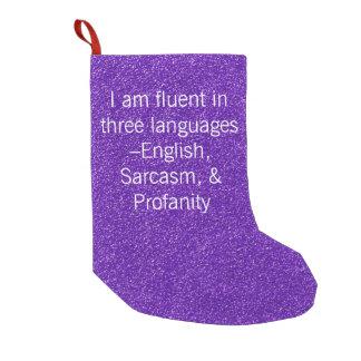 Fließend in drei Sprachen Kleiner Weihnachtsstrumpf