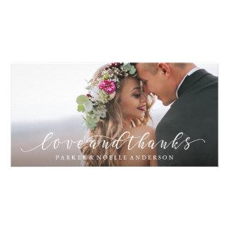 FließenLiebe und Dank, die Foto-Karte Wedding sind Bildkarte