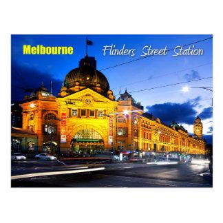 Flinders-Straßen-Station, Melbourne - an der Postkarte