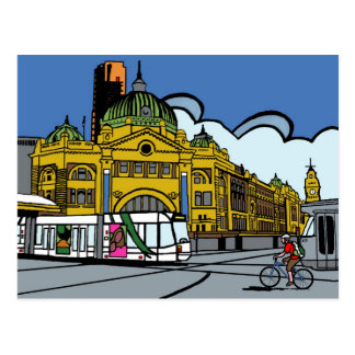 Flinders-Straßen-Station Postkarte