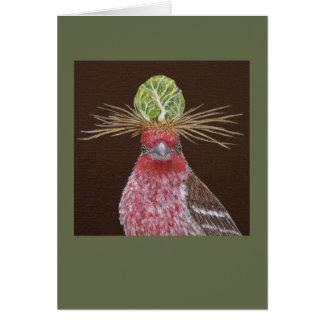 Flink die Hausfink-Grußkarte Grußkarte
