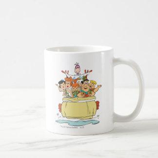Flintstones-Familie Roadtrip Kaffeetasse