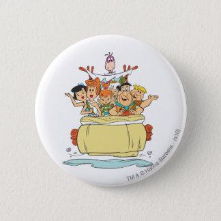 Flintstones-Familie Roadtrip Runder Button 5,1 Cm