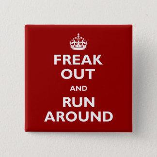 Flippen Sie heraus aus und stranden Sie Quadratischer Button 5,1 Cm