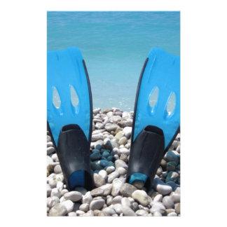 Flipper, Kiesel und Ozean Individuelles Büropapier