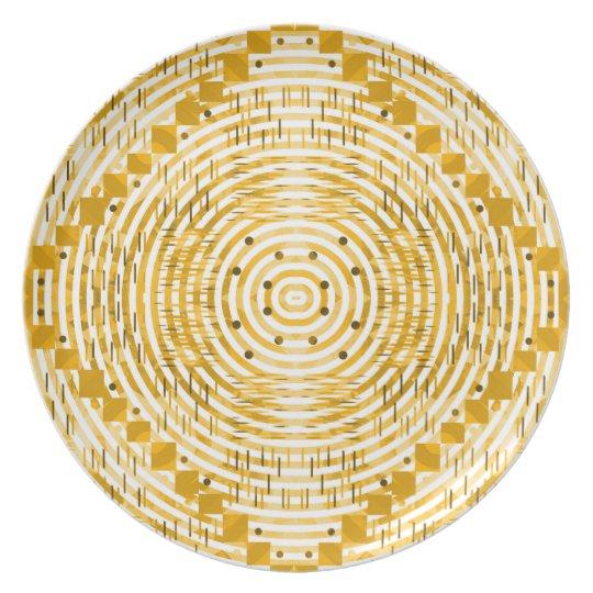 Flippig und golden melaminteller