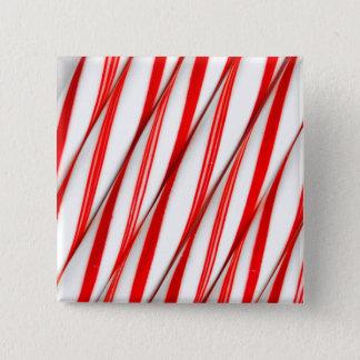 Flippige Chrstmas Zuckerstangen Quadratischer Button 5,1 Cm