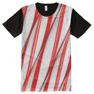 Flippige Chrstmas Zuckerstangen T-Shirt Mit Komplett Bedruckbarer Vorderseite