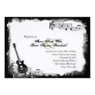 Flippige E-Gitarren-Musik-Hochzeits-Einladung Karte