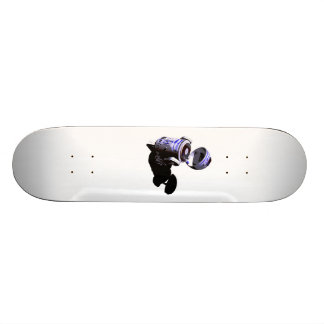 Flippige Einheit R2 spinnt einen weißen Aufkleber Individuelle Skateboarddecks