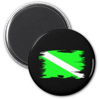 Flippige Farbtauchen-Flagge Runder Magnet 5,7 Cm