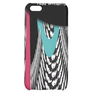 Flippige Federn u. Skalen rosa blaues pern Hülle Für iPhone 5C