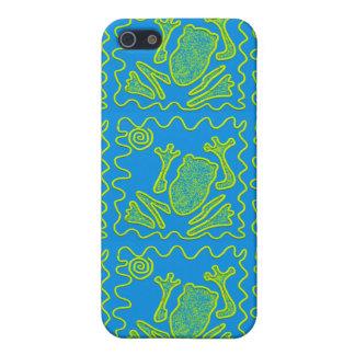 Flippige Frosch-blaues Etui Fürs iPhone 5