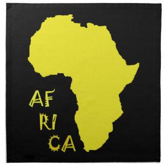 Flippige gelbe Afrika-Karte Serviette