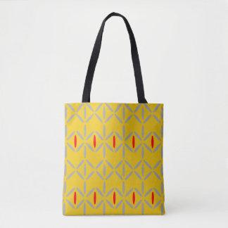 Flippige gelbe und rote Diamantstreifentasche Tasche