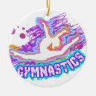 Flippige Graffiti-Mädchen-Gymnastik Keramik Ornament