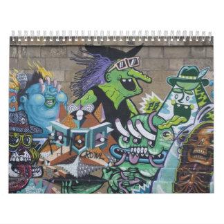 Flippige Graffitis in Wien Österreich 2018 Abreißkalender