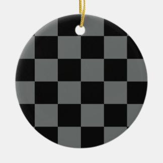 Flippige graue Schwarz-Blöcke Keramik Ornament