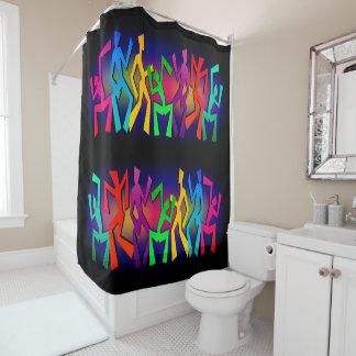 Flippige große Tänzer Duschvorhang