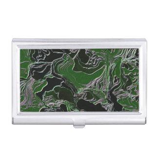 Flippige grüne Tarnung Visitenkarten Dose