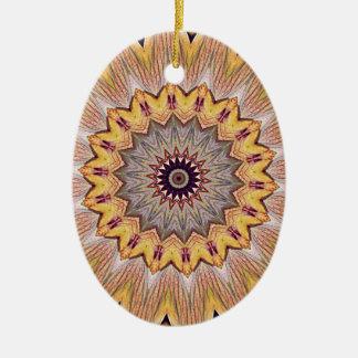 Flippige Kaleidoskop-Sonnenblume-Mandala Keramik Ornament