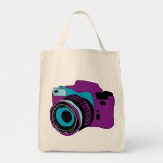 Flippige Kameragraphikillustration Einkaufstasche